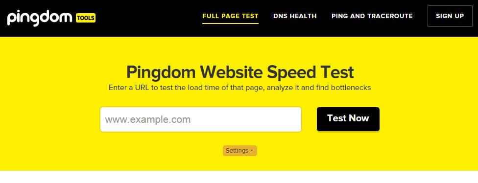 Проверить скорость загрузки сайта pingdom