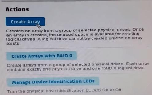 Создаем RAID 5 на p420i-01