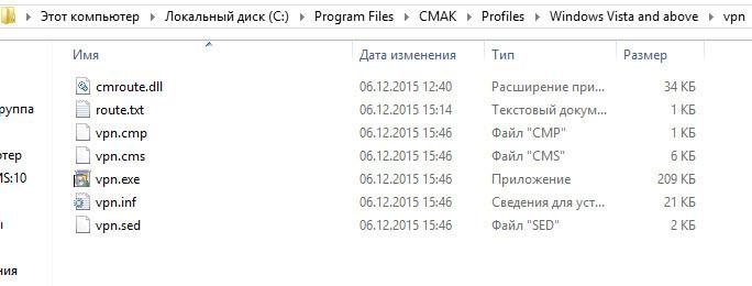созданный файл vpn