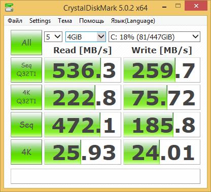 Тестирование ssd intel 530 на ASUS X200LA-02