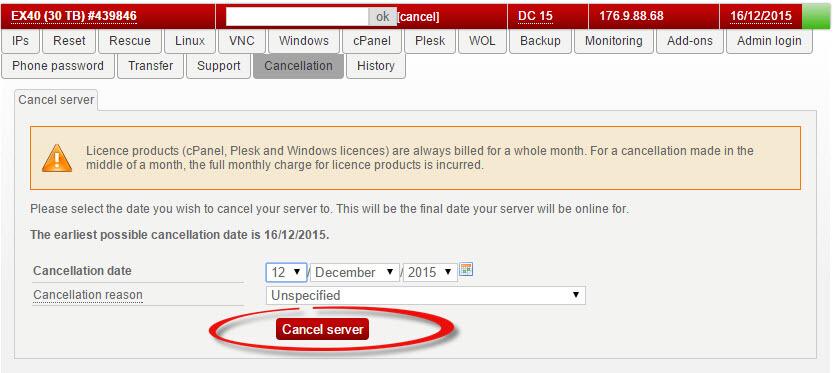 hetzner как отказаться от аренды сервера | Настройка серверов