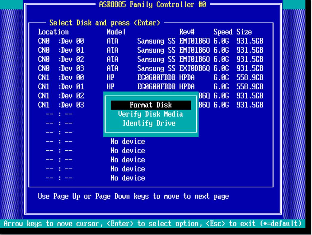 raid диск список команд