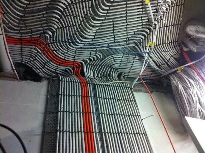 укладка оптоволоконного кабеля