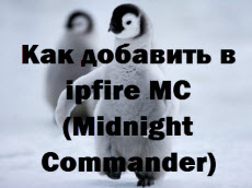 Как добавить в ipfire MC (Midnight Commander)