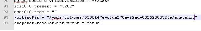 Как задать месторасположение снапшотов виртуальной машины Vmware ESXI-05