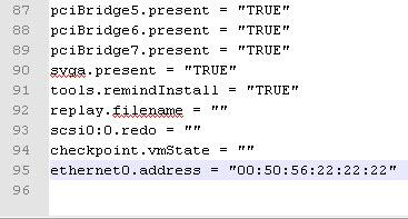 как прописать мак адрес виртуальной машины VMware-08