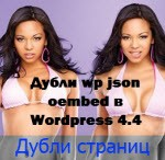 Дубли wp json oembed в WordPress 4.4