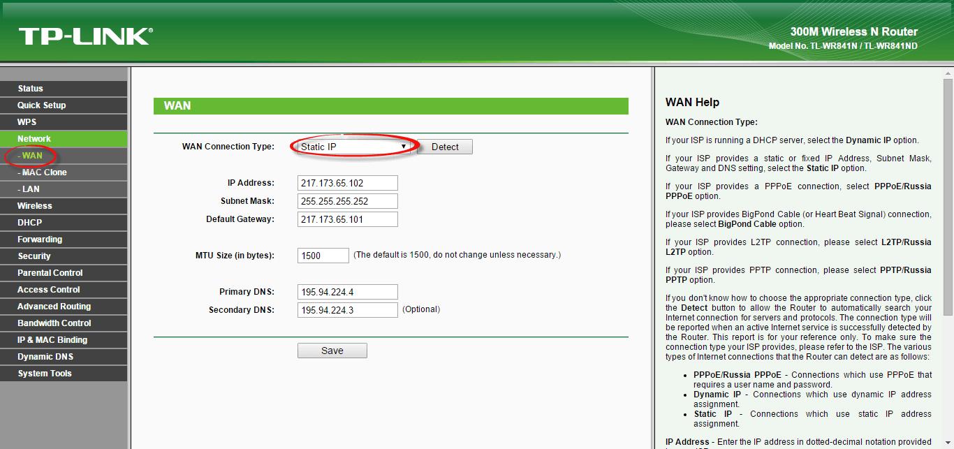Как настроить wifi роутер tl wr841n-4