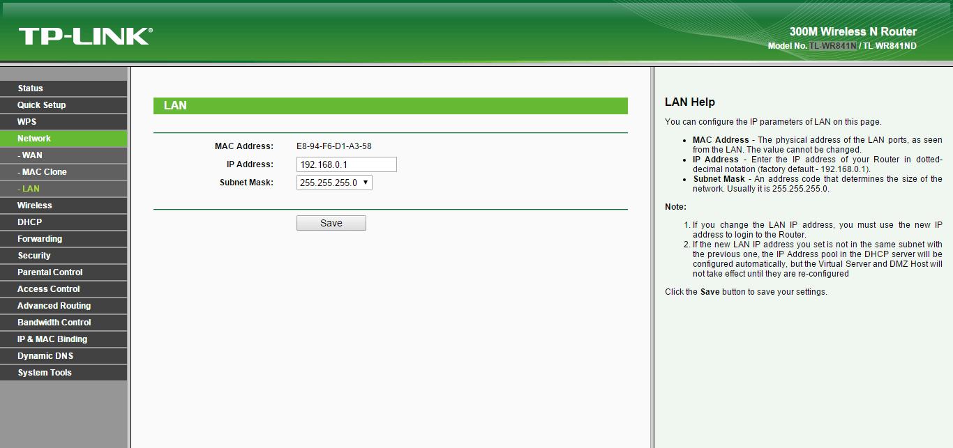 Как настроить wifi роутер tl wr841n-7