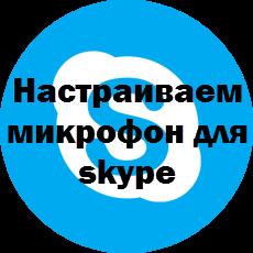 Настраиваем микрофон для skype