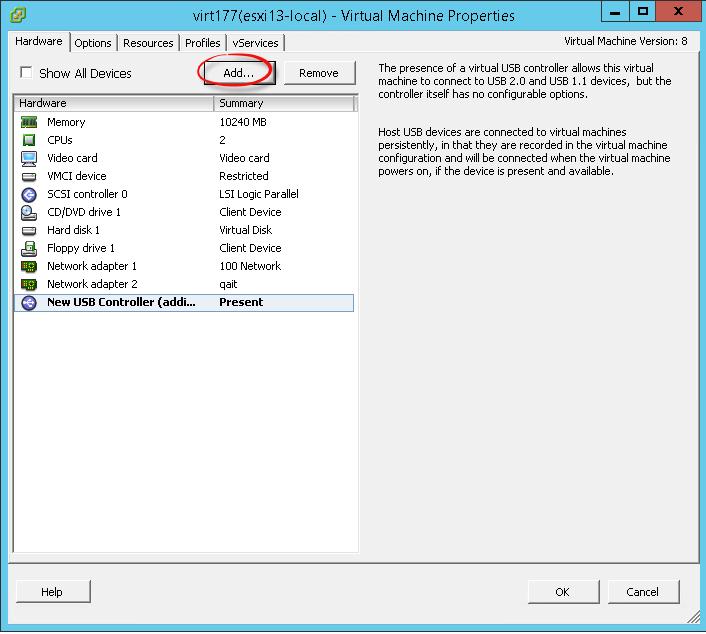 Пробрасываем USB модем в vmware esxi виртуальную машину-5