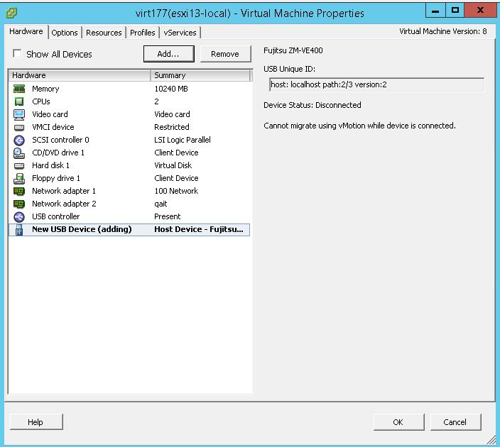 Пробрасываем USB модем в vmware esxi виртуальную машину-9