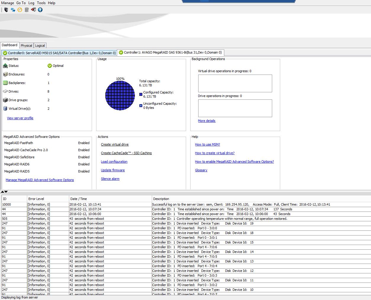 Устанавливаем SAS 9361-8i в IBM System x3650 M3-15