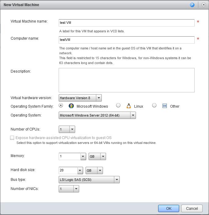 vCloud Director как создать виртуальную машину в нем-4