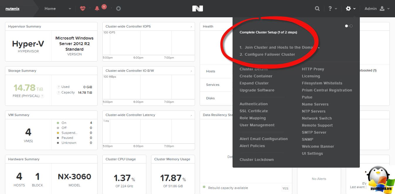 Как настроить Nutanix NX-3460-03