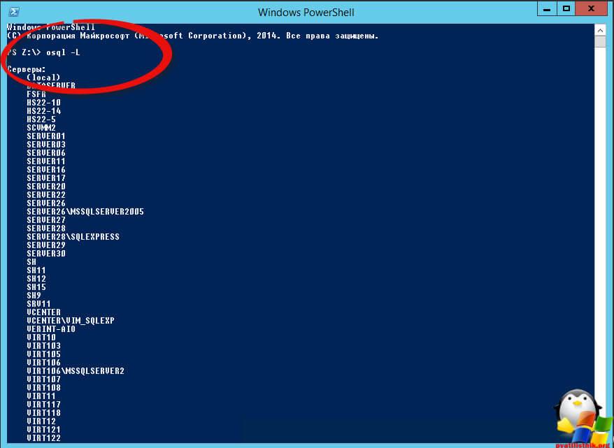 Сменить пароль sa в sql через командную строку-01