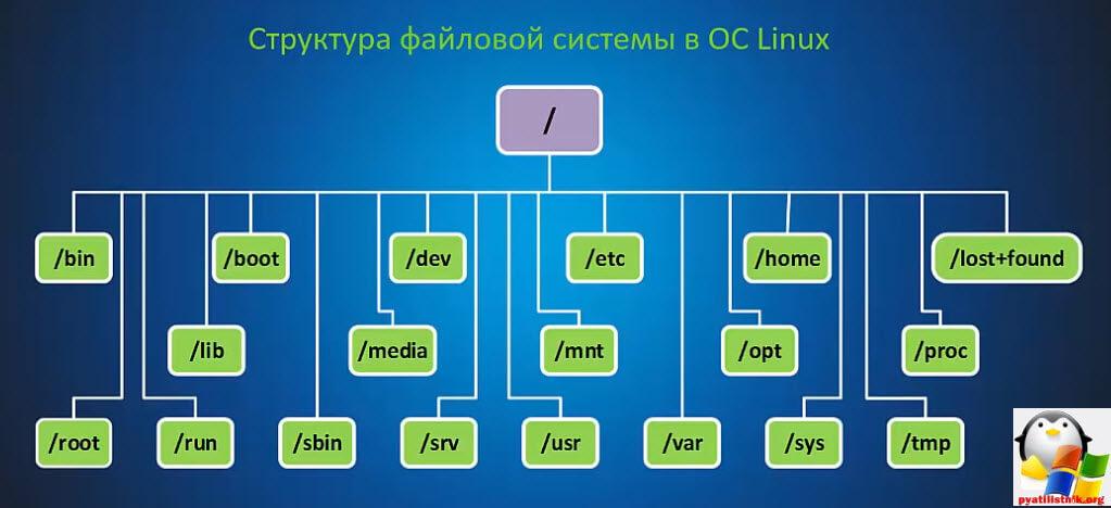 Структура файловой системы CentOS 7-01