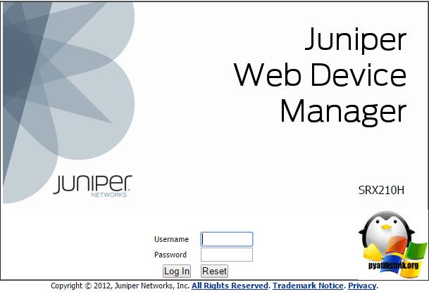 Как настроить сетевой интерфейс на маршрутизаторе juniper srx210-2