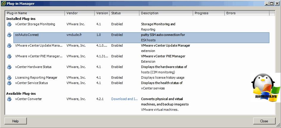 Плагин sshAutoConnect для ssh подключений через vCenter-4