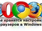 Где хранятся настройки браузеров в Windows