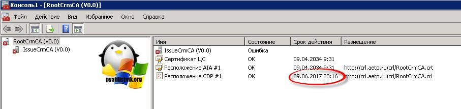 Сервер отзыва сертификатов недоступен ошибка 0x80092013 (-2146885613)-2