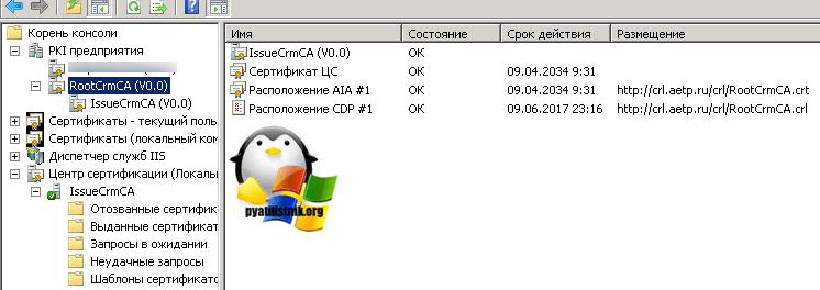 Сервер отзыва сертификатов недоступен ошибка 0x80092013 (-2146885613)-3