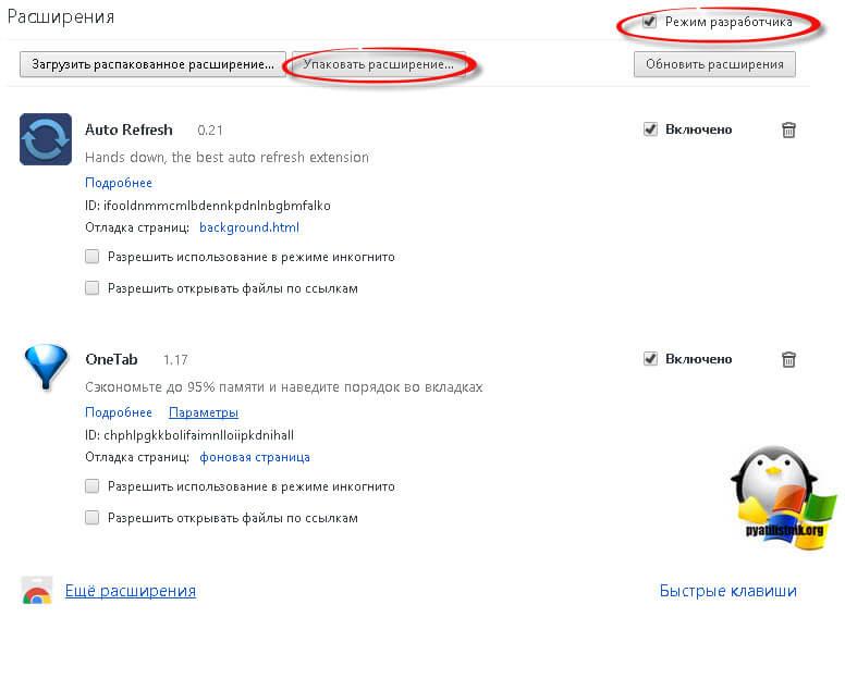Как установить расширение в google chrome вручную-1