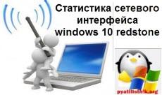Статистика сетевого интерфейса windows 10 redstone