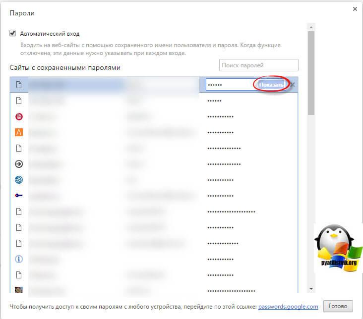 Как посмотреть сохраненные пароли в браузерах-6