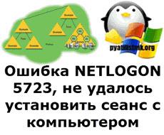 Ошибка NETLOGON 5723