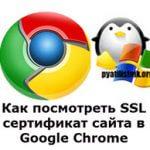 Как посмотреть SSL сертификат сайта в Google Chrome
