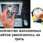 Количество взломанных сайтов увеличилось на треть