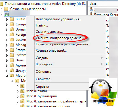 оснастка управления пользователями и компьютерами в домене windows