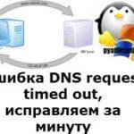 Ошибка DNS request timed out, исправляем за минуту