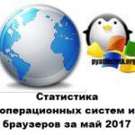 Статистика операционных систем и браузеров за май 2017