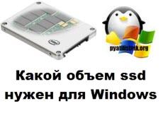 Какой объем ssd нужен для windows 7