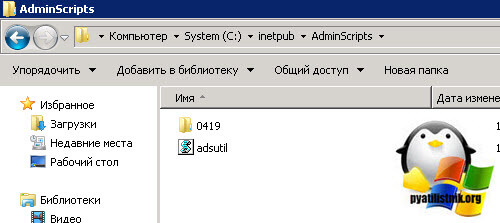 adsutil.vbs set в IIS