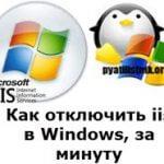 Как отключить iis в Windows, за минуту