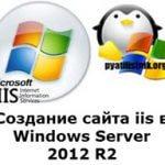Создание сайта iis в Windows Server 2012 R2