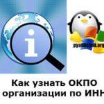 Как узнать ОКПО организации по ИНН