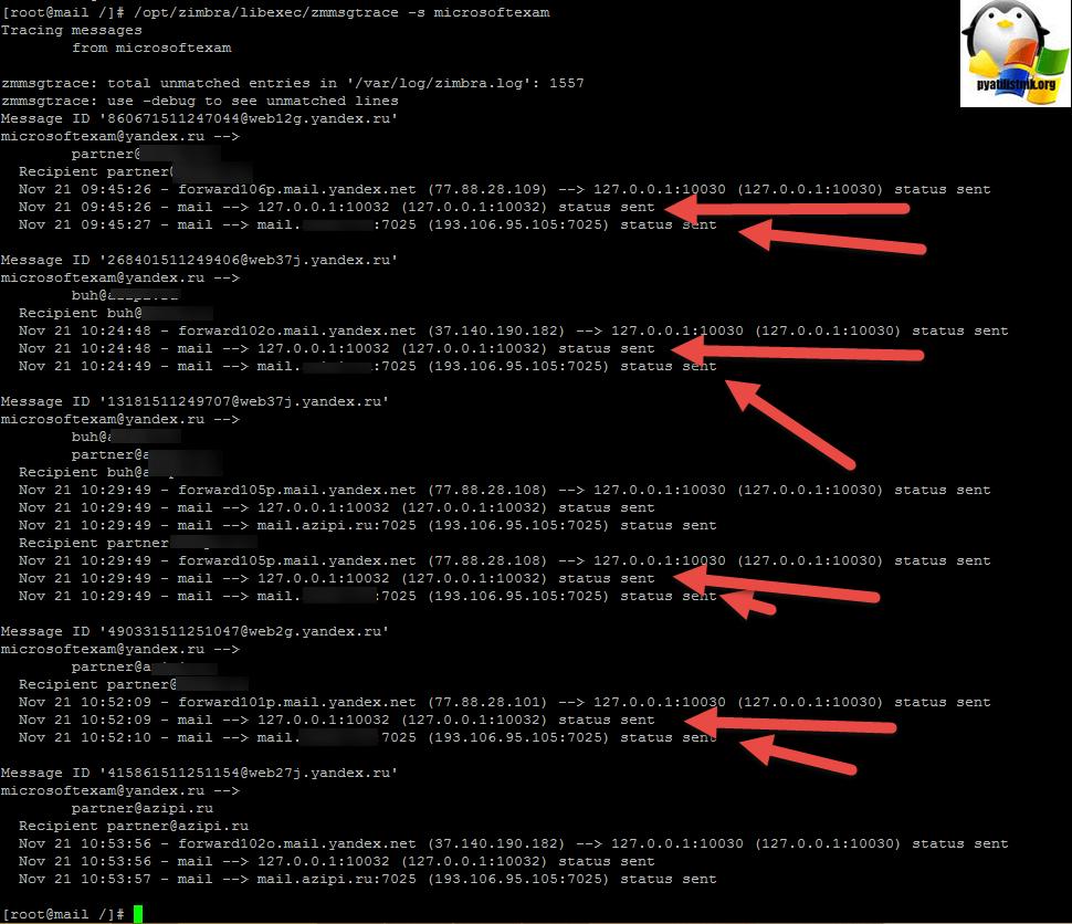 Не приходят входящие письма в Zimbra | Настройка серверов