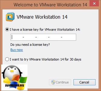 Активация Vmware Workstation 14-01