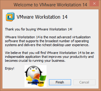 Активация Vmware Workstation 14-02