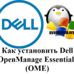 Как установить Dell OpenManage Essentials (OME)