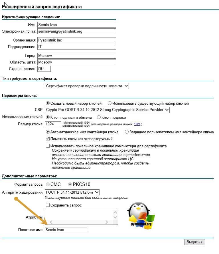 получить тестовый сертификат-06