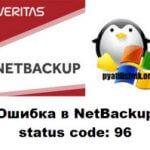Ошибка в NetBackup status code: 96