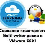 Создание кластерного Multi-writer диска в VMware ESXI