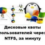 Дисковые квоты пользователей через NTFS, за минуту