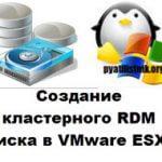 Создание кластерного RDM диска в VMware ESXI 6.5