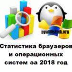 Статистика браузеров и операционных систем за 2018 год